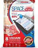 Spacesaver 8 x Premium Travel Roll Up Compression Storage Bags For Suitcases - No Vacuum Needed - (4 x Large, 4 x Medium) 80% More Storage Than Leading Brands!