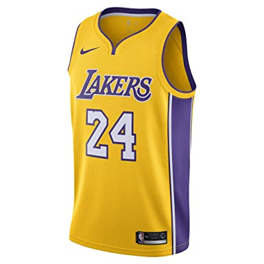 88428a19375 Nike Men s Lakers Kobe Bryant Swingman Jersey Top-Amarillo Field Purple -Large