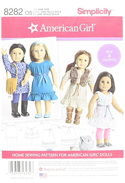 Amazon Simplicity Patterns 40 American Girl 40 Doll Clothes Fascinating American Girl Patterns