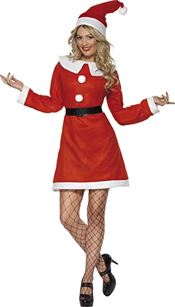 Miss Santa Fancy Dress Costume Size 8-10 S Ladies (Christmas)
