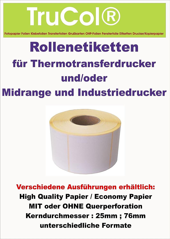 1127 Etiketten Etikettenrolle (Format 105mm 105mm 105mm x 148mm) unbedruckt Endless Label Paper (1 Rolle) Economy Paper - Kern   Ø 76mm - Rollenetiketten für Thermotransferdrucker. Labeldrucker B003UOYAZE | Modern  5e41c8