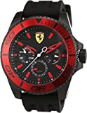 Scuderia Ferrari Mens Quartz Watch, Analogue Classic Display and Silicone Strap 0830310