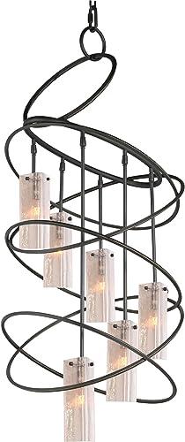 Woodbridge Lighting 12516BLK-C40432 Loop 6-Light Chandelier, 23 x 47 , Black