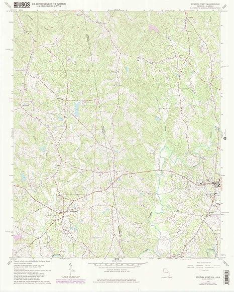 Map Of West Georgia.Amazon Com Yellowmaps Bowdon West Ga Topo Map 1 24000 Scale 7 5