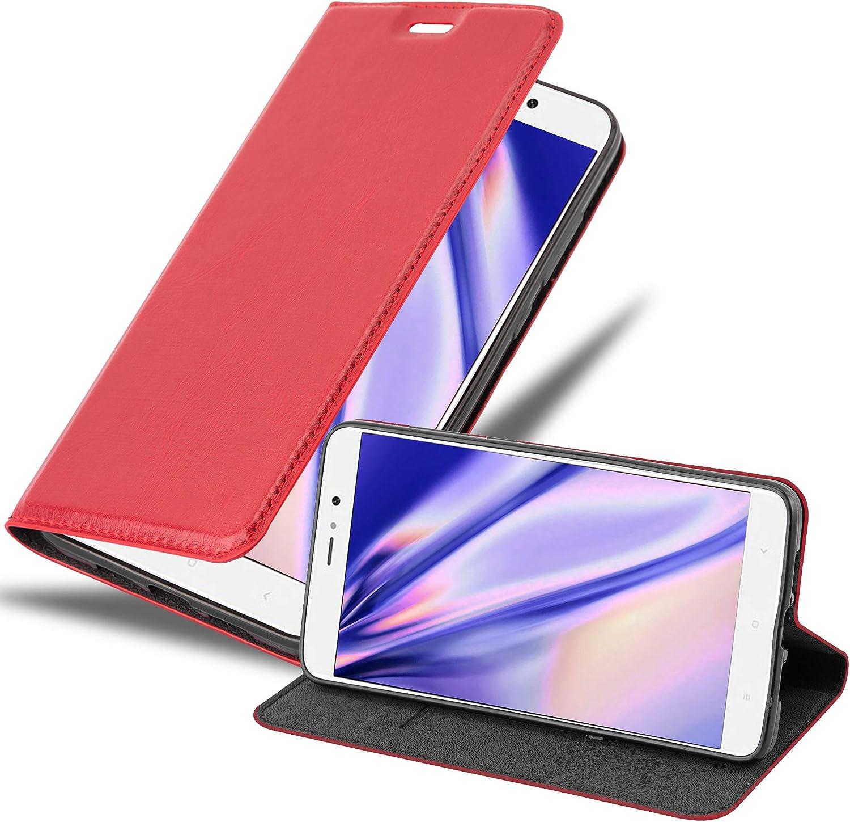 Cadorabo Funda Libro para Xiaomi Mi 5S Plus en Rojo Manzana ...