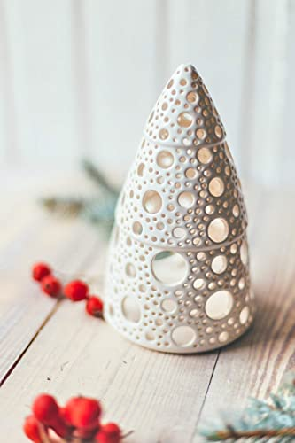 Amazoncom White Christmas Tree Candle Holder Holiday