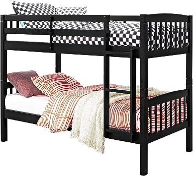 Max Finn Twin Over Twin Bunk Bed Black Furniture Decor