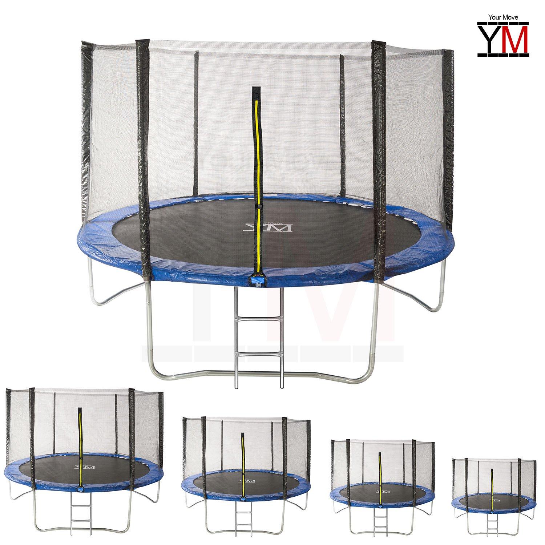 Yourmove Trampolin für Garten, Outdoor, mit elastischem Netz