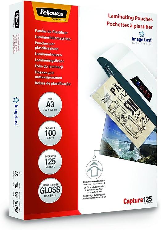 Fellowes ImageLast Pack de 100 fundas de plastificar formato A3 ...