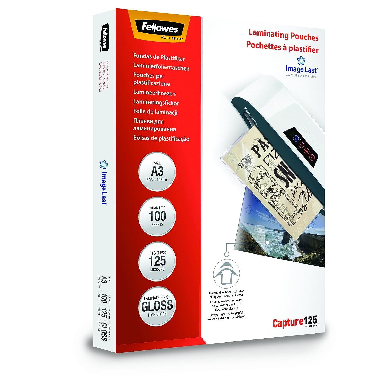 DIN A3 Fellowes ImageLast Laminierfolien 80 Mikron 100er Pack transparent 80 Mikron, DIN A4, 100 St/ück + ImageLast Laminierfolien