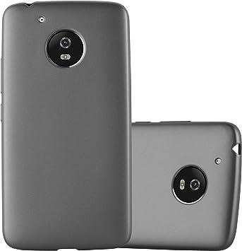 Cadorabo Funda para Motorola Moto G5 en Metallic Gris – Cubierta ...