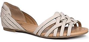MIA Shoes Women's Pandora Ballet Flat Natural 6 Medium US