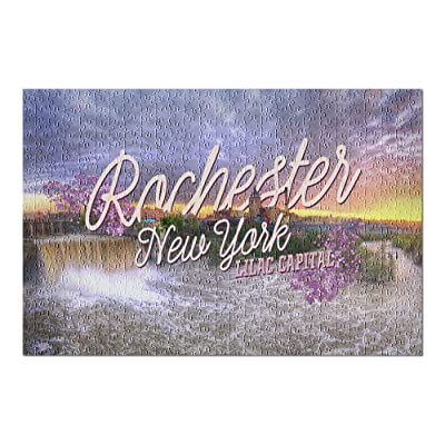 Rochester, New York - Lilac Capital (Premium 500 Piece Jigsaw Puzzle for Adults, 13x19, Made in USA!): Toys & Games