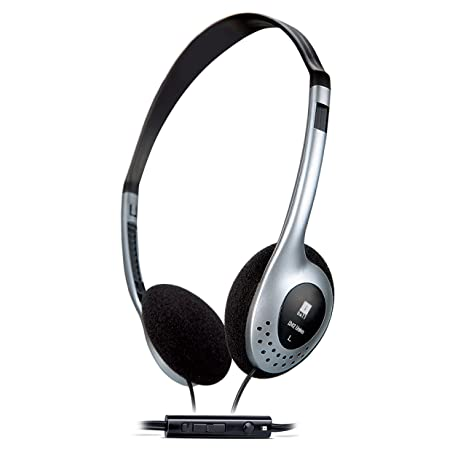 iBall i342 Univo Headphone Headset With MIC for Mobile Phones Tablets  amp; Laptops   Black Silver Headsets