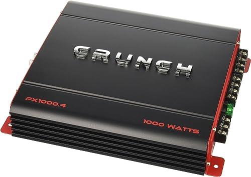 Crunch PX1000.4 Power Amplifier (Class Ab, 4 Channels, 1,000 Watts), 3.70in. x 12.60in. x 10.80in.