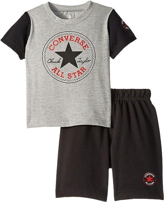 Converse Kids Chuck Taylor - Conjunto de pantalón Corto para niño (niño): Amazon.es: Ropa y accesorios