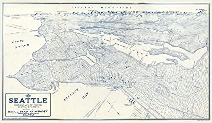 Cascade Mountains Map on