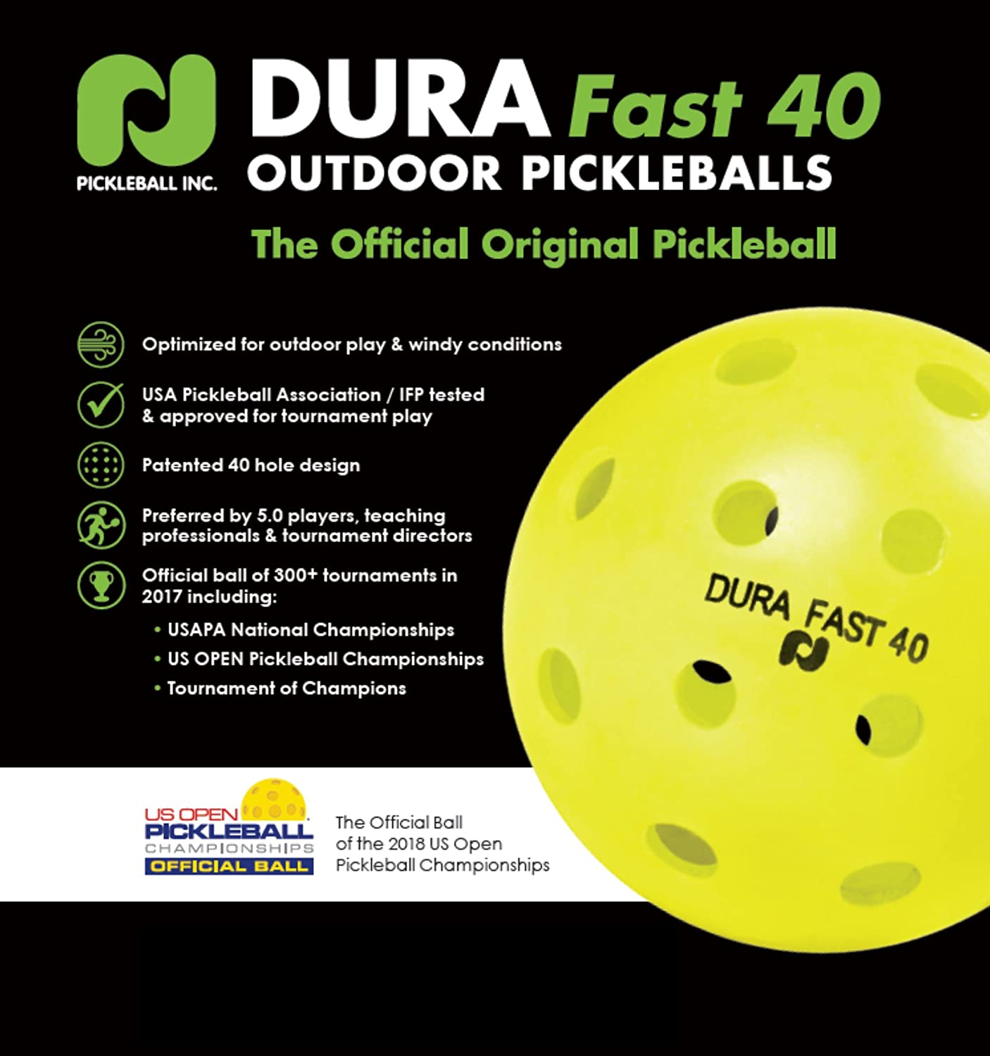 Amazon.com   Dura Fast 40 Outdoor Pickleball Balls 46faef09e7f1d