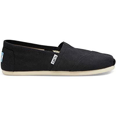 TOMS Women's Classic Canvas Slip On Black Canvas 8 | Loafers & Slip-Ons