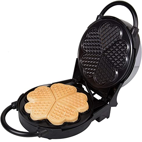 Amazon Com Heart Waffle Maker Non Stick Waffle Griddle Iron With