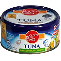 Golden Prize Tuna Chunk in Etra Vigin Olive Oil 185Gms Each - Pack of 3 Units