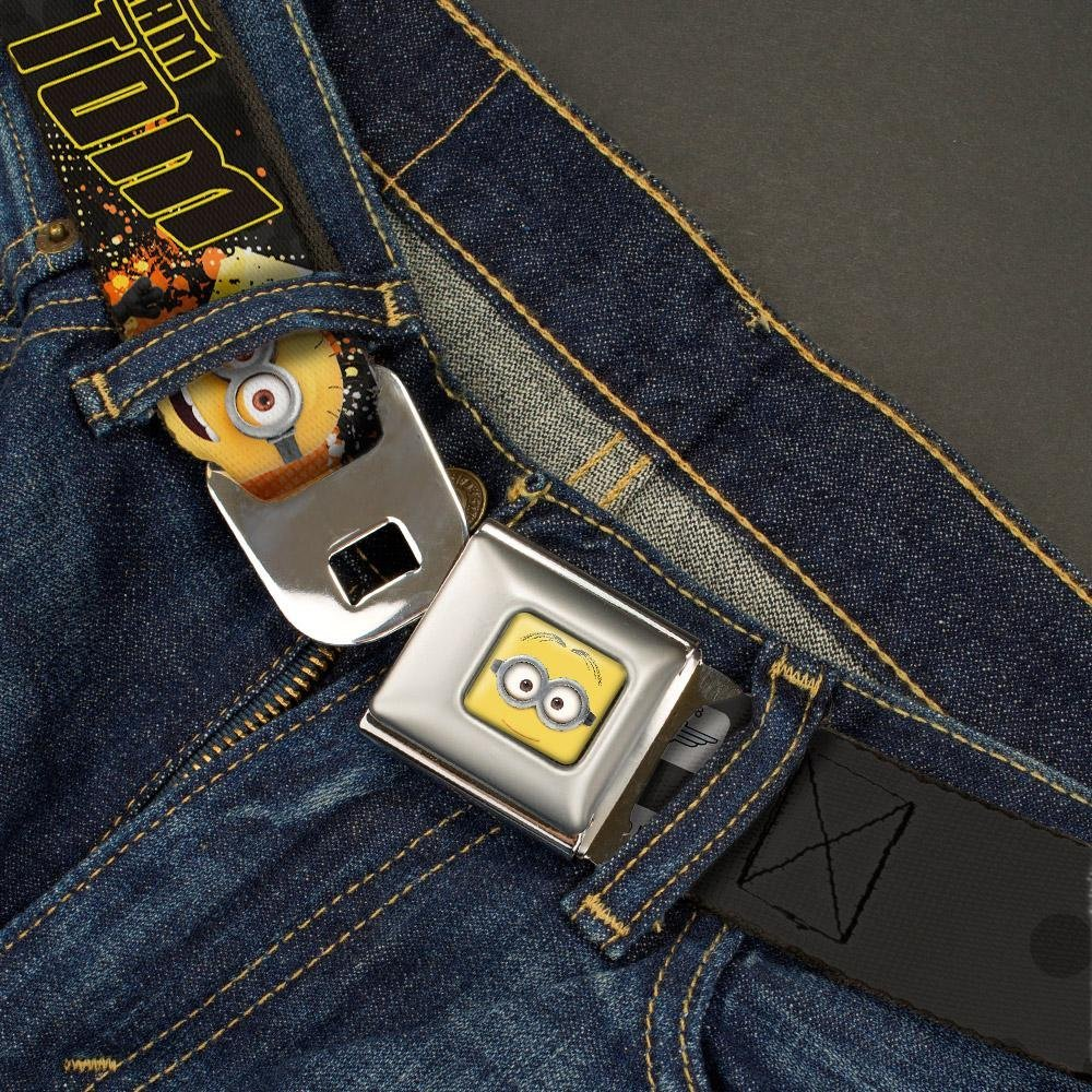 1.5 Wide Minion Tom Poses//TEAM TOM Buckle-Down Seatbelt Belt 24-38 Inches in Length