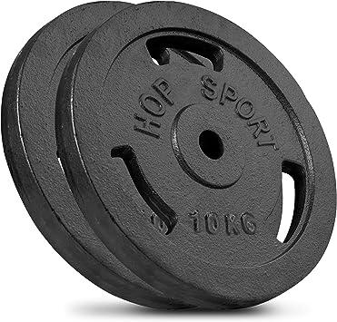 Hantelscheiben Set I Gusseisen Gewichte 5-40 kg I Hantel 30 mm Bohrung
