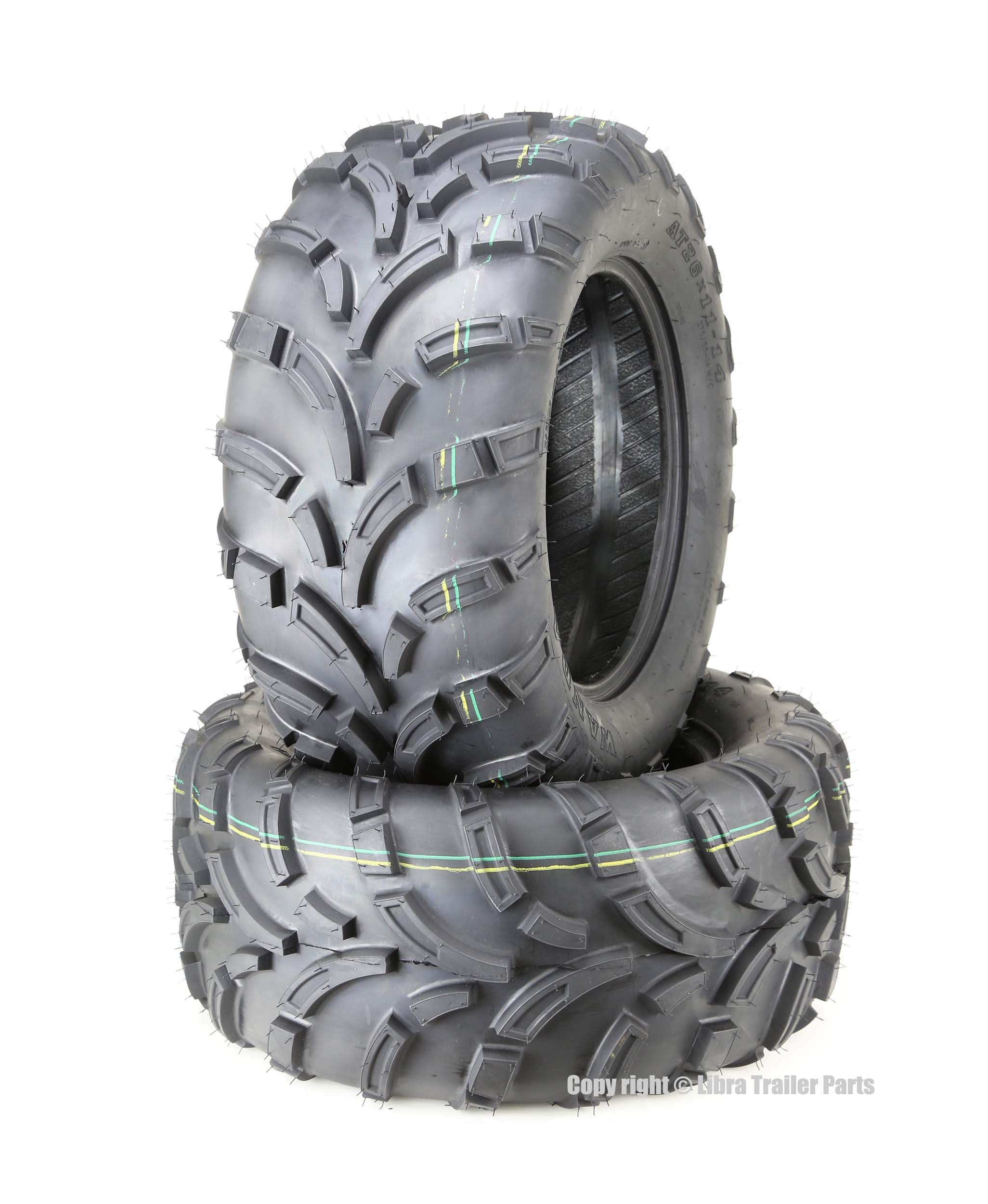 Set of 2 WANDA ATV UTV Tires 26x11-14 26x11x14 6PR Lit Mud ... by WANDA