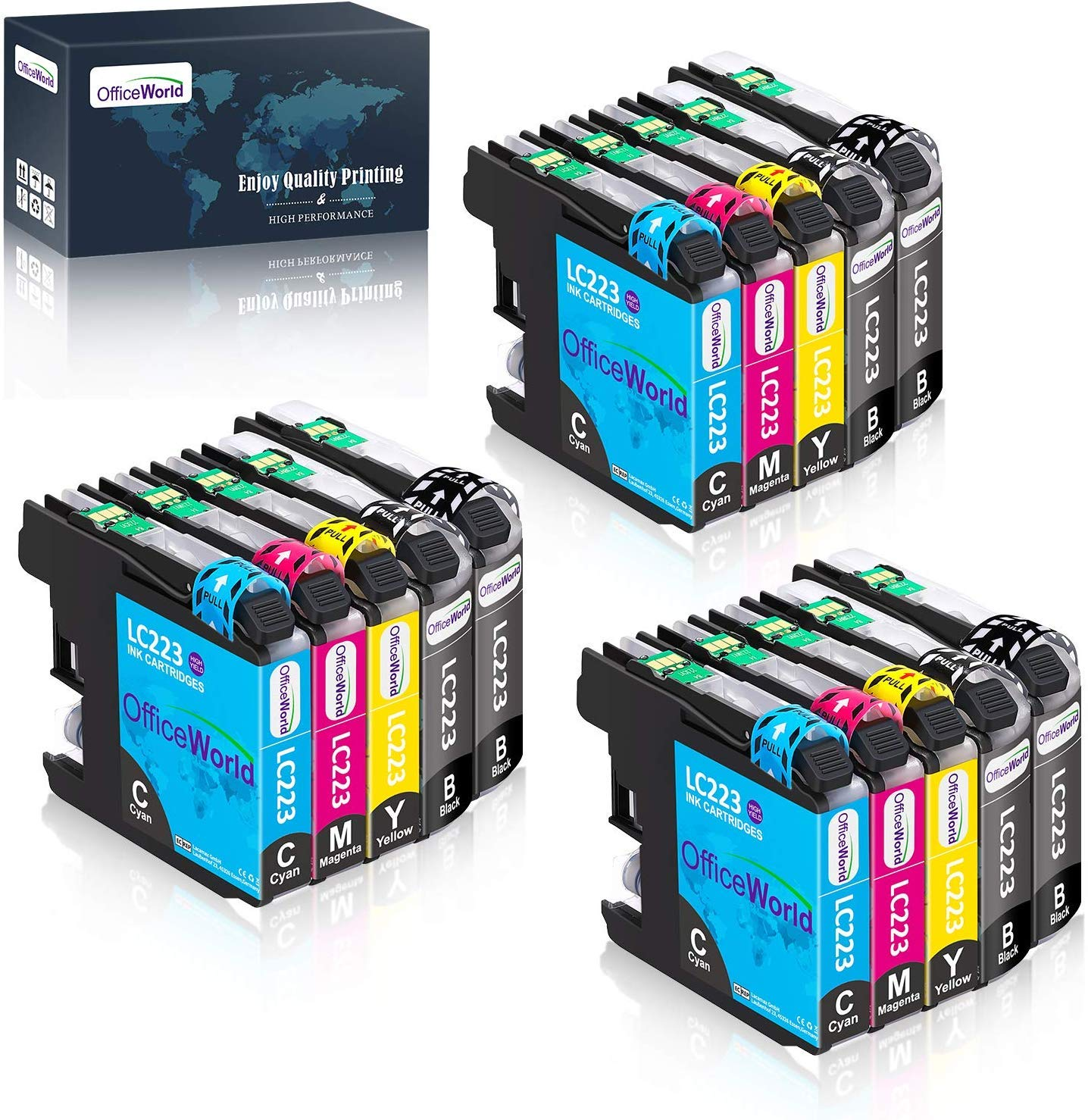 OfficeWorld Reemplazo para Brother LC223 Cartuchos de tinta ...