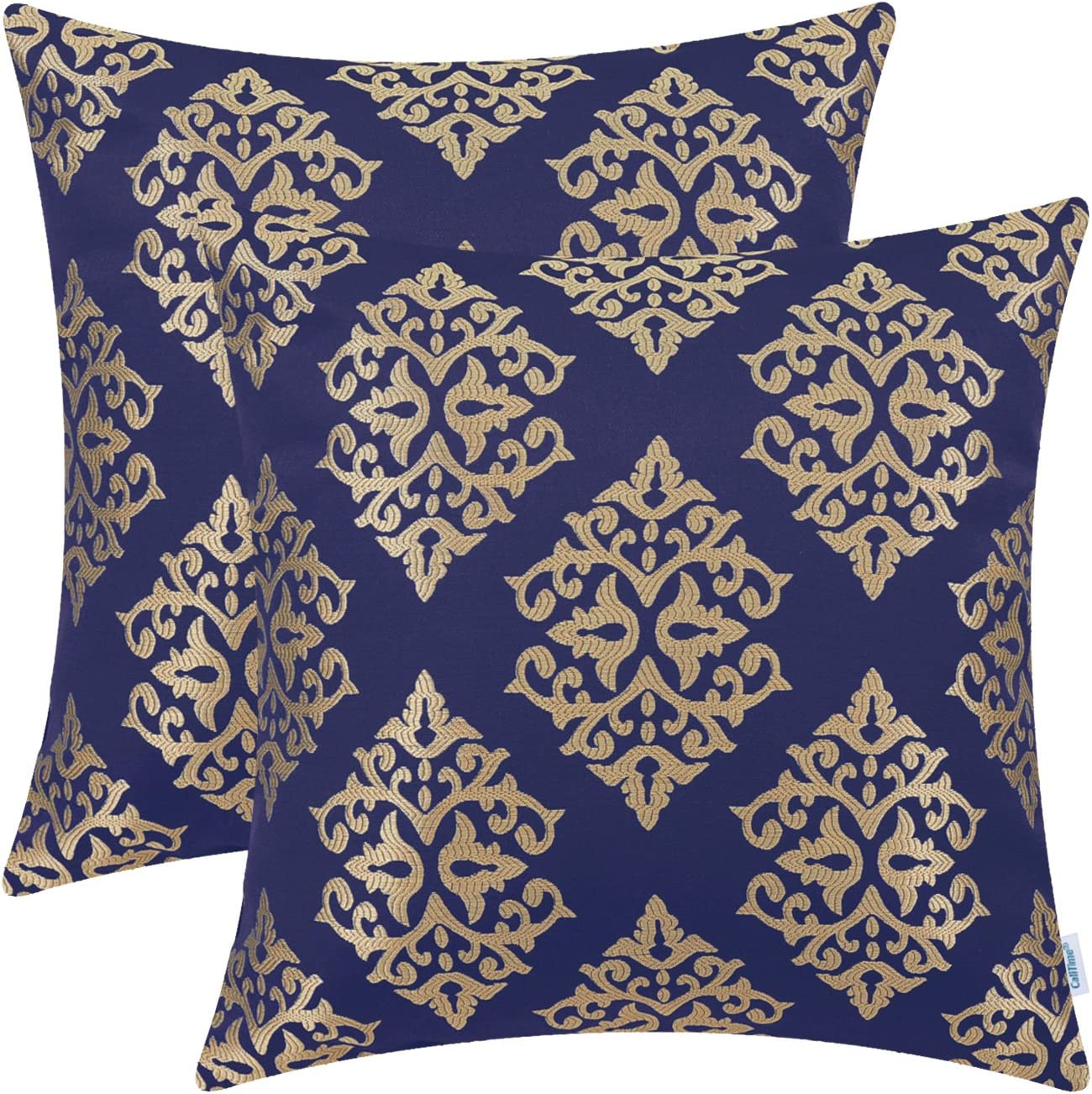 10 Colors Elegant Both Sides Damask Velvet Deco Throw Pillow Case Cushion Cover