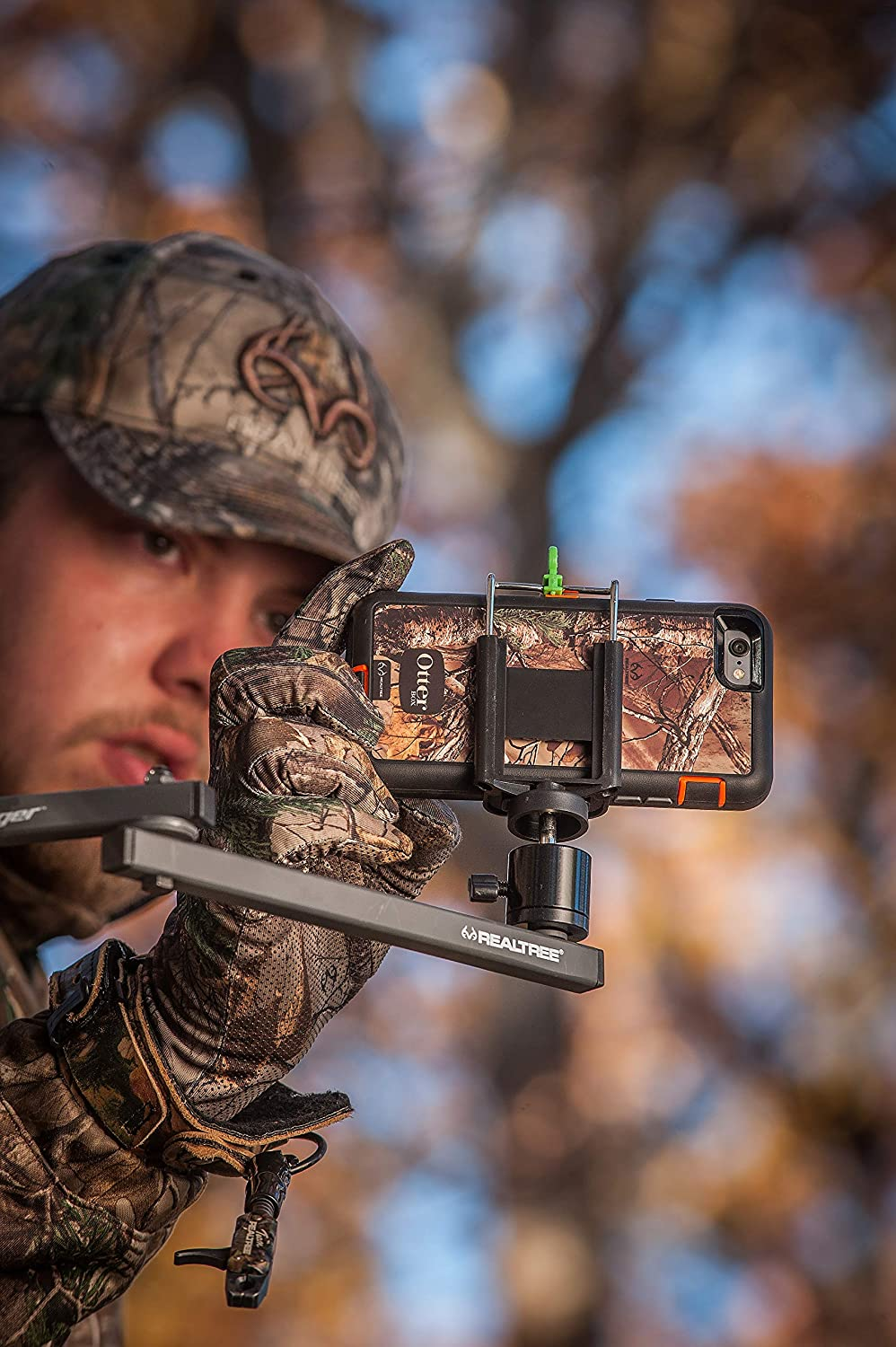 Realtree Outfitters Realtree 34 EZ Mount//EZ PIC Cell Phone Holder Combo Black//Green Jordan Outdoor Enterprises 9974 NC