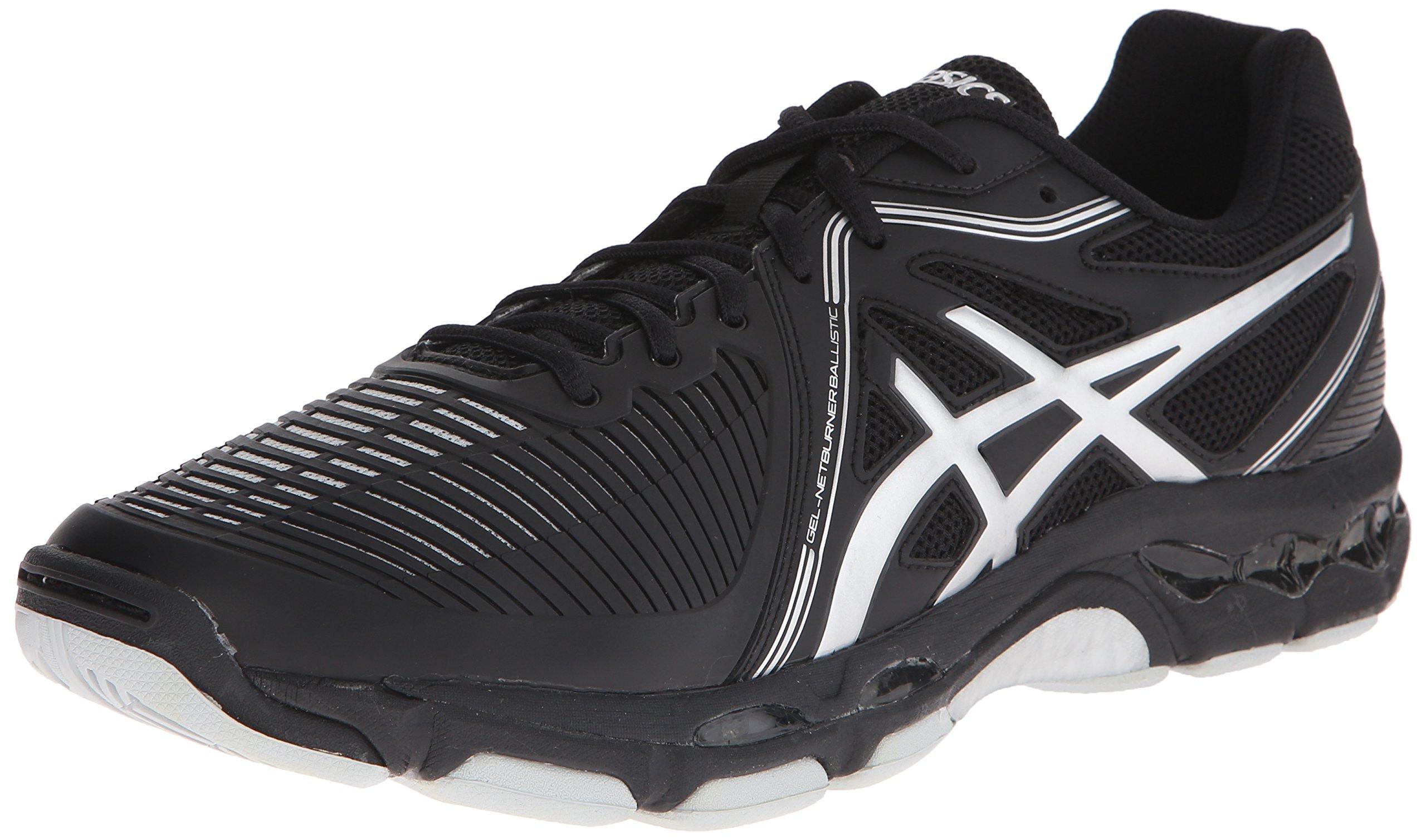 ASICS Men's Gel-Netburner Ballistic Volleyball Shoe, Black/Silver, 6.5 M US