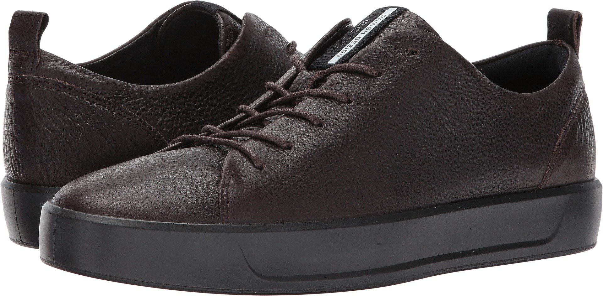 ECCO Men's Soft 8 Tie Fashion Sneaker, Coffee/Black, 46 EU/12.5 M US