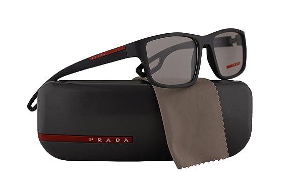 8645ec99964 Prada PS09GV Eyeglasses 53-18-140 Grey Rubber w Demo Clear Lens UFK1O1  VPS09G VPS 09G PS 09GV  Amazon.co.uk  Clothing