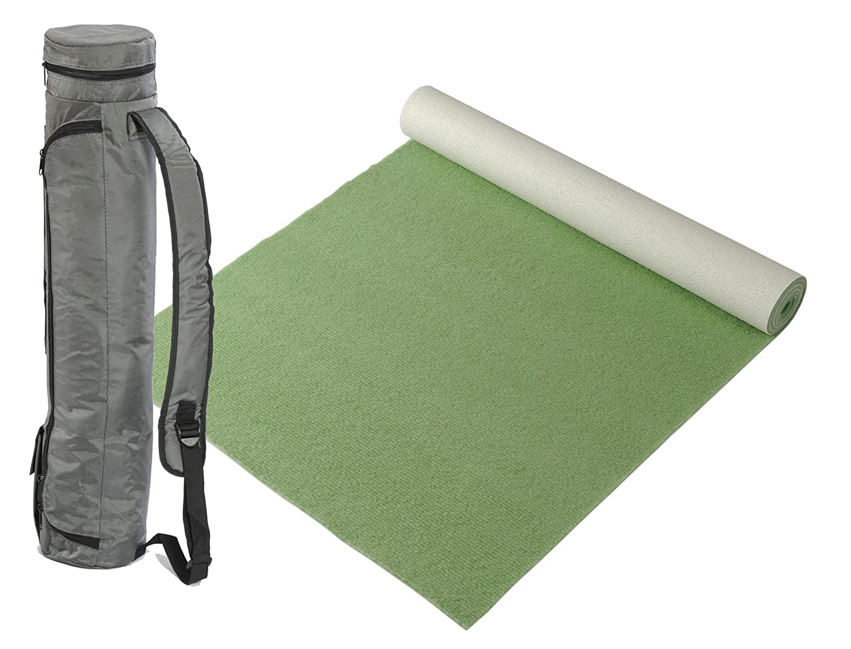 "Bausinger Yogaset  Yogamatte ""Lite"", Florhöhe 5mm, 80x200 cm, moos, mit passender Yogatasche"
