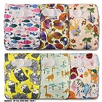 LittleBloom Bébé Tissu Couche Couches Lavables Poches Réutilisable, Fixation: VELCRO, Lot De 6