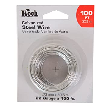 Koch industries a46225 wire rope 22 gage galvanized steel 100 feet koch industries a46225 wire rope 22 gage galvanized steel 100 feet greentooth Images