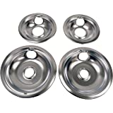 Whirlpool W10278125 Drip Pan Kit, Chrome