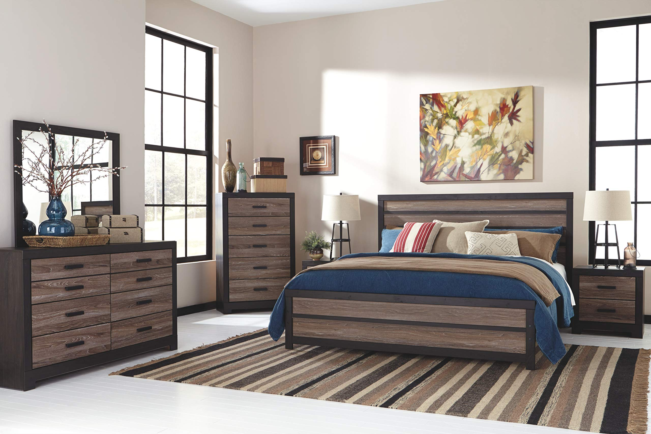 Ashley Furniture Signature Design - Harlinton Chest of Drawers - 5 Drawer Dresser - Contemporary Vintage - Warm Gray & Charcoal by Signature Design by Ashley (Image #8)