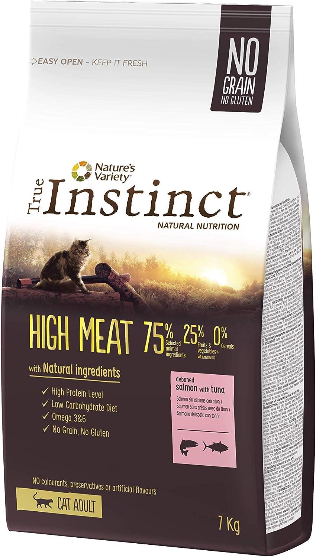 True Instinct High Meat Adult - Nature's Variety - Pienso para Gatos Adultos con Salmón - 7kg