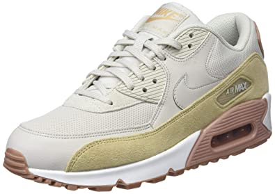 watch 49b70 a4bfe Nike WMNS Air Max 90 Lifestyle Women Sneakers Grey Brown Dark Brown-White