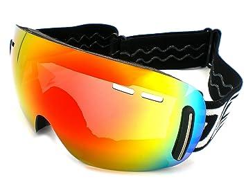 301fc424b77c Dirty Dog Mens Red  Drift  Frameless Ski Goggles  Amazon.co.uk ...