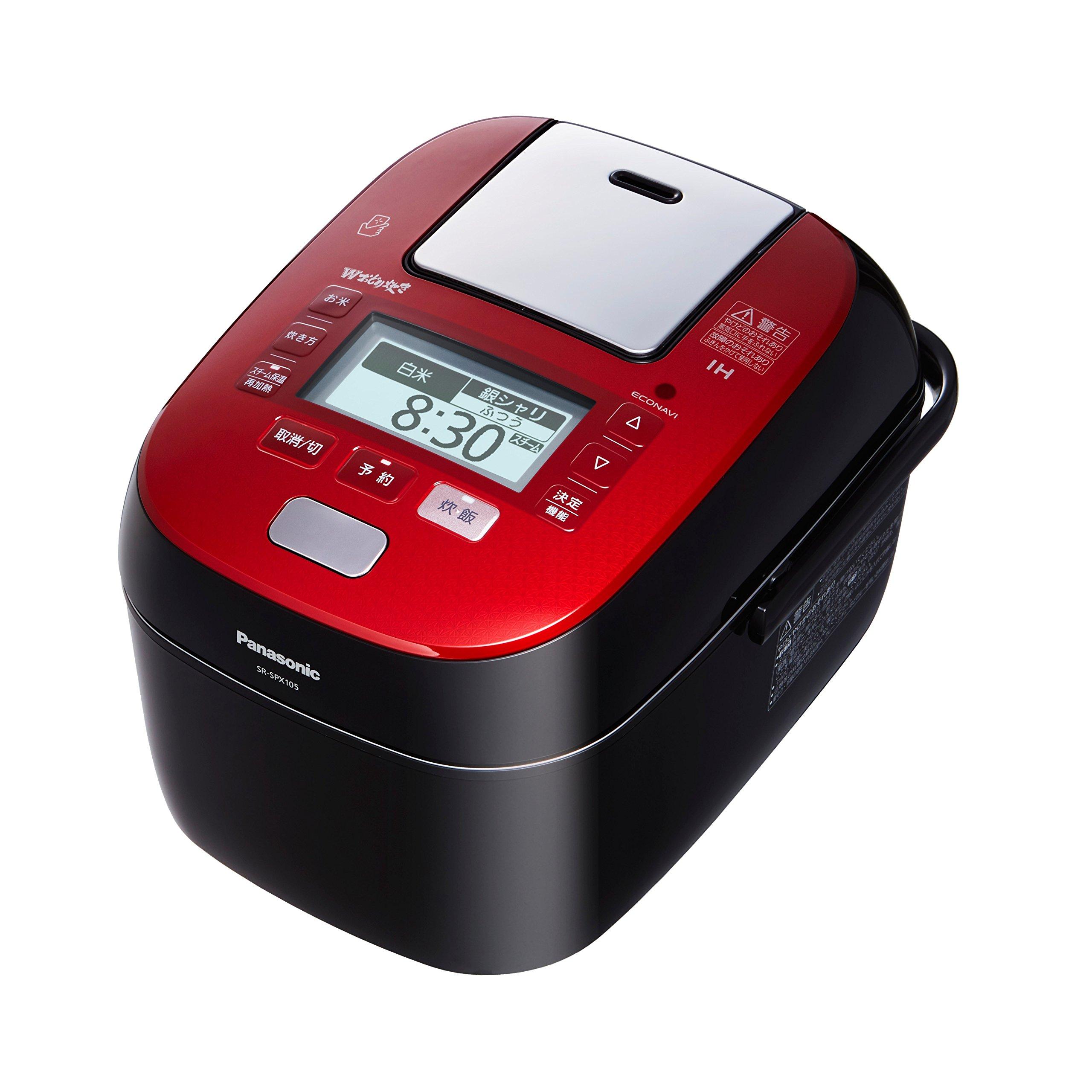 Panasonic W dance cook steam and variable pressure IH jar rice machine 1.0L 0.5 ~ 5.5 Go Rouge Black SR-SPX105-RK