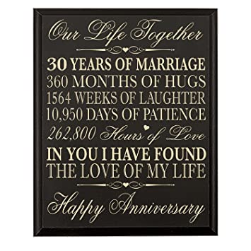 Amazoncom Lifesong Milestones 30th Anniversary Gift For Couple