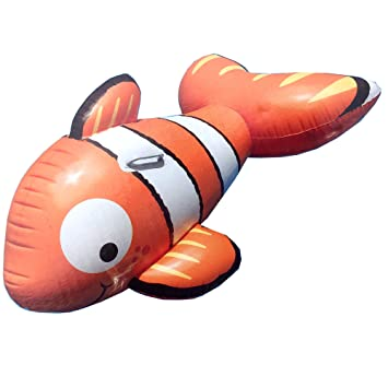 Amazon.com: Pez payaso inflable Finding Nemo Ride On piscina ...