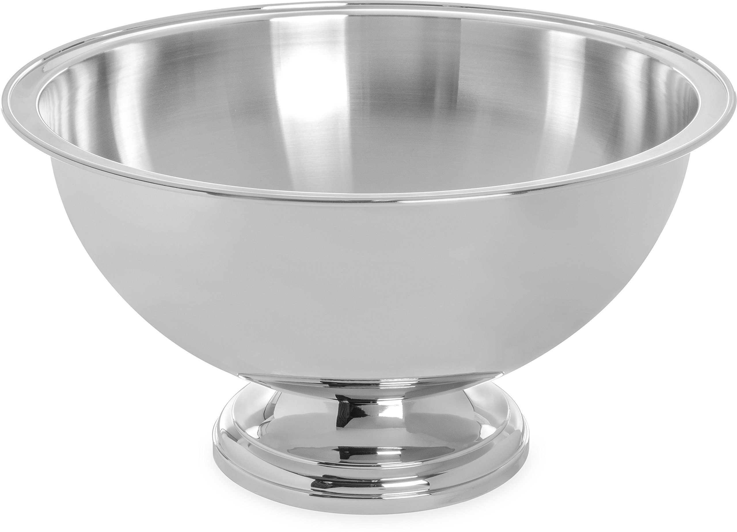 Carlisle 609316 Stainless Steel 18-8 Punch/Serving Bowl with Mirror-Polished Finish, 16 quart Capacity, 18'' Diameter by Carlisle