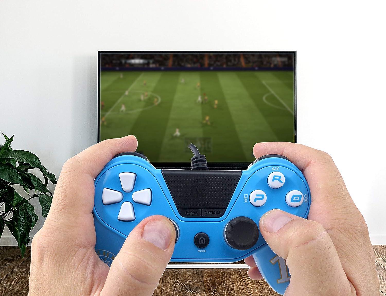 Mando para Playstation 4 PC con Cable Paris Saint Germain Playstation 3 PC Pro4 Wired Controlador Compatible PS4 Slim PS4 Pro