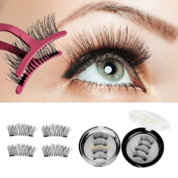 325fc01d002 Dual False Eyelashes Magnetic Eyelashes - 3D False Lash Extensions For A  Dramatic Effect, Glue