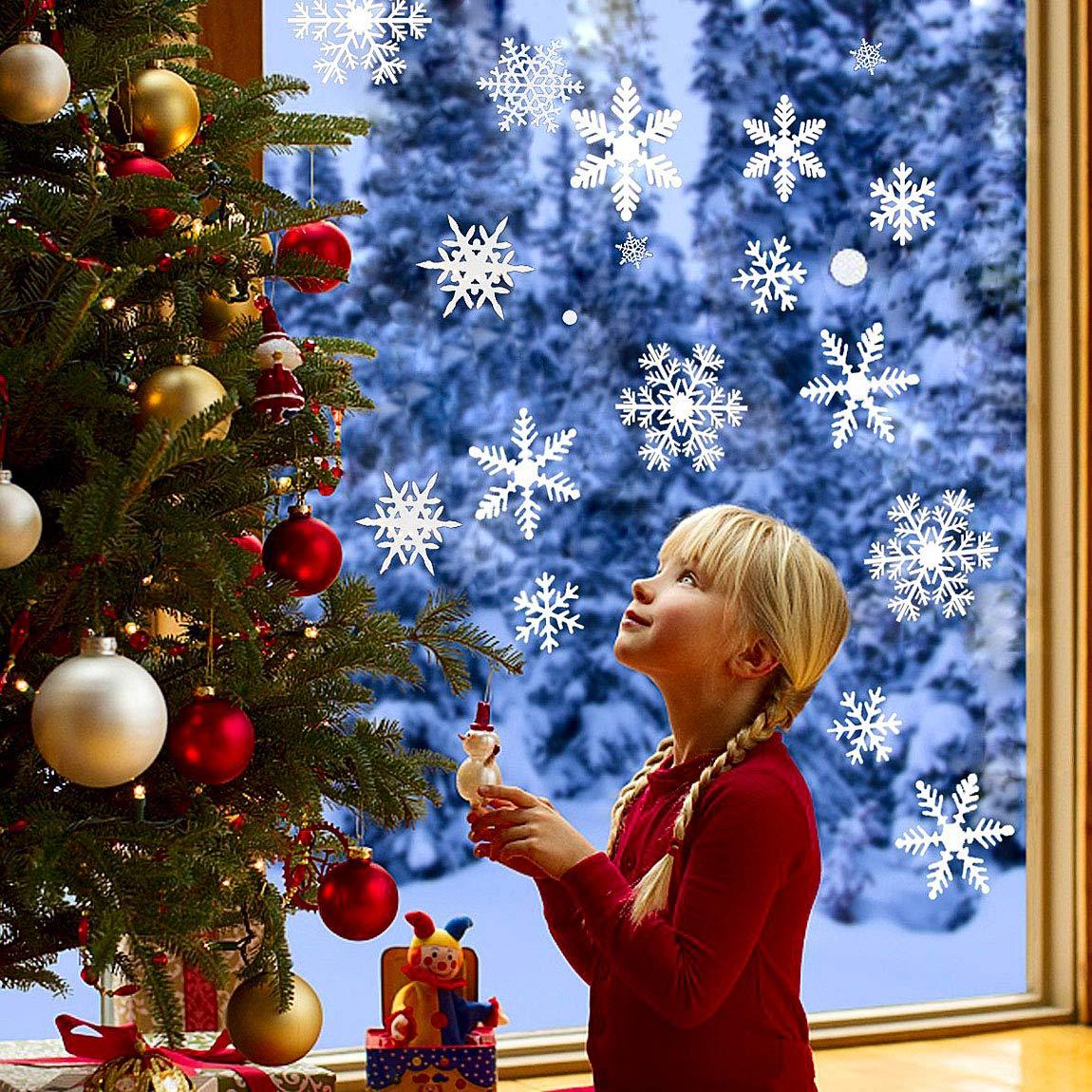 Pared de la Navidad A/ño Nuevo Etiqueta Nieve Etiqueta Engomada Desprendible de Arte Decoraci/ón Decal Navidad Nieve Decoracion Pared Etiqueta Joy.J
