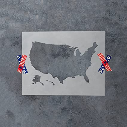 World Map Stencil Template for Walls and Crafts - Reusable Stencils ...